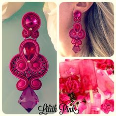 So pretty but not for me Shibori, Soutache Earrings, Drop Earrings, Diy Jewelry, Jewelery, Handcrafted Jewelry, Handmade, Book Design Layout, Diy Accessories