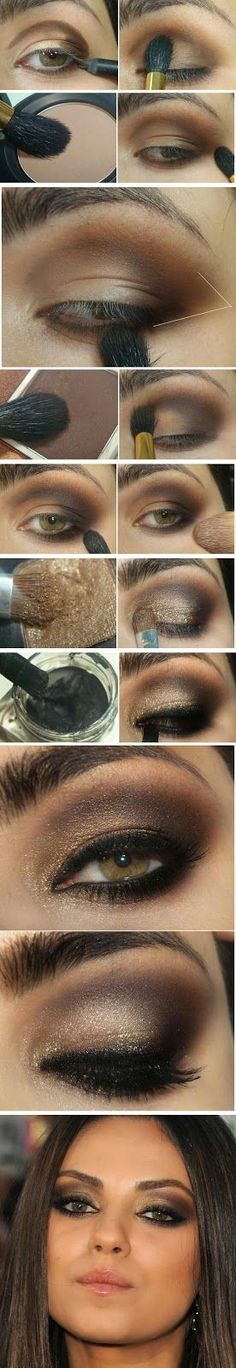 How to : Gold and Brown Gorgeous Makeup Tutorial