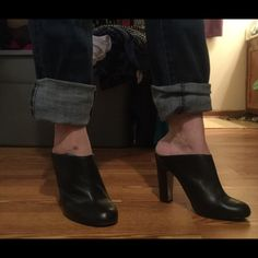 Extra pics pf awesome leather Nina mules Hope this helps! Nina Ricci Shoes Heels