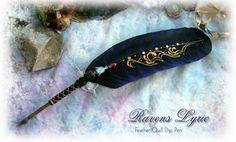 BLUEBIRD Feather Quill Pen by ~ChaeyAhne on deviantART