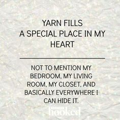 Yarn fills a special place in my heart. Not to mention my bedroom, my living…