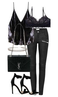 """Untitled #2945"" by theeuropeancloset on Polyvore featuring Fleur du Mal, Humble Chic and Yves Saint Laurent"