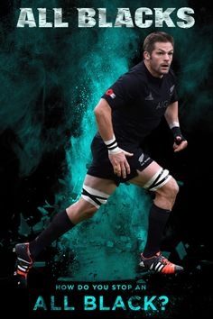 All Blacks rugby 2015 - Captain Richie McCaw - How Do You Stop an All Black? Series created by Gordon Tunstall using Adobe PhotoShop
