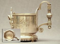 Carl Faberge Silver Tea Glass Holder, ca. 1890-1893.