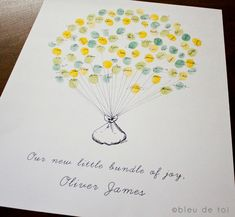 The sweetest baby shower guest book you ever did see via @babycenter