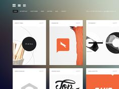 #Minimalistic and #Flat #UI for portfolio gallery
