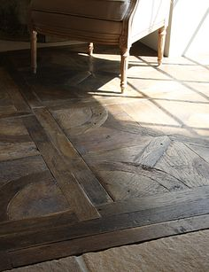 Antique French oak, pulled from actual wood flooring installed in French homes and farmhouses - Salvaged wood flooring