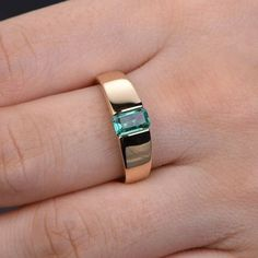 yellow gold emerald engagement ring wide band width men wedding band,bridal promise ring,anniversary fine jewelry,reco craft,handmade - Wedding World Emerald Jewelry, Gold Jewelry, Fine Jewelry, Jewellery, Men's Jewelry Rings, Emerald Rings, Emerald Stone, Cheap Jewelry, Jewelry Crafts