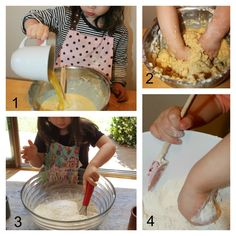 Pouring, mixing (with her hands, with a whisk, and with a spoon or rubber scraper) Montessori un-sensory bin Good Excuses, Maria Montessori, Teaching French, Sensory Bins, Spoon, Yummy Food, Hands, Blog, Delicious Food