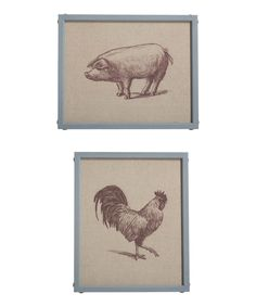 Another great find on #zulily! Burlap Retro Wall Art - Set of Four by Transpac Imports #zulilyfinds