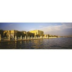 Palace at the waterfront Dolmabahce Palace Bosphorus Istanbul Turkey Canvas Art - Panoramic Images (30 x 12)