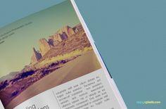 Free Digest Size Magazine PSD Mockup   ZippyPixels