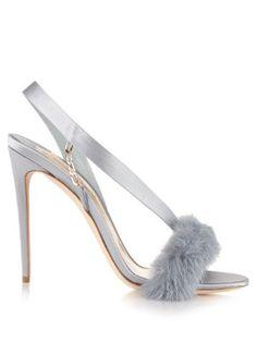 L'Amazone mink-trim sandals | Olgana Paris |