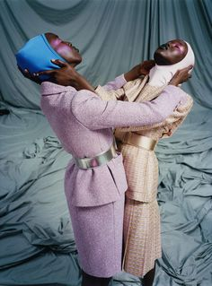 Adut Akech & Nyaueth Riam by Harley Weir for i-D Summer 2017 - Page 2 | The Fashionography