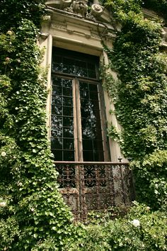 """Ivy covered Villa Erba Cernobbio, Lago di Como , province of Como , Lombardy region Italy"" - reminds me of the song ""secret garden"" Exterior Design, Interior And Exterior, Purple Home, Italian Villa, Through The Window, Lake Como, Stairway, Windows And Doors, Architecture Details"