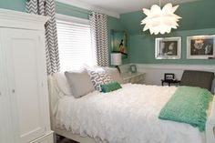 Very stunning bedroom. I would like to know the name of the wall color - Houzz