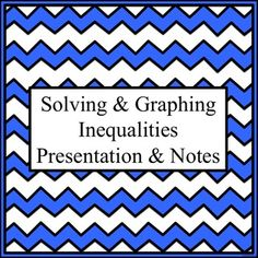 Use this PowerPoint presentation and note-taking outline to introduce solving and graphing inequalities. It has layered animations to allow you to question students as you present and only contains four slides due to the animation involved. The note-taking outlines coordinate with the PowerPoint presentation and include eight additional examples as follow-up. The outline can easily be incorporated into an interactive notebook.  CCSS:7.EE.B.4 CCSS: HSA-REI.B.3