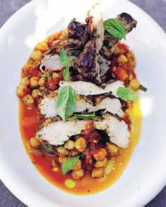 Jamie Oliver's Chicken On Chickpeas This is one of those dishes that could absolutely convince any non-chickpea-lover out there to change their mind http://www.mydish.co.uk/recipe/8351/jamie-olivers-chicken-on-chickpeas  #mydish.