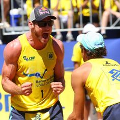 Brazilian Men's Beach Volleyball Team - the hottest Beach Volleyball, Volleyball Team, Volleyball Training, Laura Ludwig, Brazil Vacation, Living In Brazil, Henrik Lundqvist, Brazilian Men, Men Beach