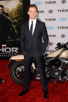 "Thor: The Dark World premiere -- Tom Hiddleston arrives at the premiere of ""Thor: The Dark World"" at the El Capitan Theatre on November 4, 2013 in Hollywood. (Photo by Jason Merritt/Getty Images)"