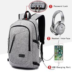 Business 15 16 inch Laptop Men Backpacks Anti Theft Notebook College School  Travel Shoulder BagsWith USB Charging Port External is outstanding models 7720c1a2fd5f2