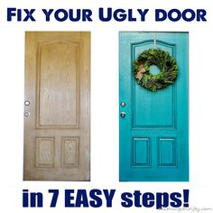 All Things Thrifty Home Accessories and Decor: How to paint your {UGLY} front door Also gives good ideas of sealer. Do It Yourself Home, Diy Home Improvement, Home Repair, My New Room, Decorating Tips, Interior Decorating, Interior Design, Home Projects, Home Renovation