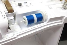 Sewing Tips for Double Needles (Nancy Zieman): Use two spools of thread on the top of the machine, position them so the threads unwind in opposite directions. This prevents the threads from tangling.