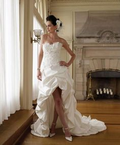 Short in front #wedding dress