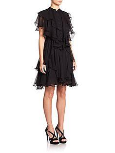 Alexander McQueen Silk Ruffle Dress. MUST HAVE!