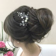 Bridal Hair Pin Rhinestone Hair Clip Beaded Hair Piece Wedding Bobby Pin Bridal Accessories Pearl Hair Pin Crystal Hair Comb Silver Hair Pin