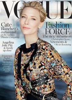 nice Cate Blanchett stuns in Louis Vuitton on Vogue Australia December 2015 cover by Will Davidson  [cover]