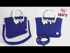Borsa Betty con inserto in legno all'uncinetto   Bag crochet - YouTube Crocheted Bags, Love Crochet, Youtube, Crochet Purses, Totes, Zapatos, Crocheting, Crochet Bags, Knitted Bags