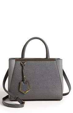 9f0e44606248d Fendi  2Jours Elite - Small  Leather Shopper available at  Nordstrom grey   light