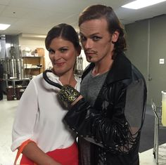Kristen Dos Santos and a verra strange pirate!  #SDCC