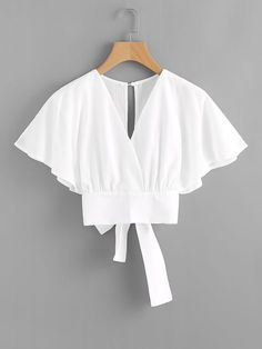 Shop Deep V-cut Split Back Bow Tie Blouse online. ROMWE offers Deep V-cut Split Back Bow Tie Blouse & more to fit your fashionable needs. Girl Fashion, Fashion Dresses, Fashion Design, Fashion Clothes, Party Fashion, Fashion Styles, Style Fashion, Fashion Tips, Bow Tie Blouse