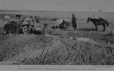 Balkan Savaşı 1912, Trakya Cephesi. İngiliz gazeteci ve fotoğrafçı Ashmead-Bartlett, cepheye otomobille ulaşmaya çalışıyor