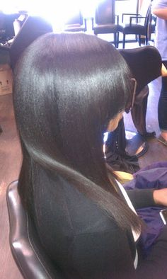 See how you can have a relaxer as well as long, healthy hair at the same time!