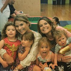 Fun: Earlier that day, Jenna shared a picture of the two mothers with all of their kids (l...
