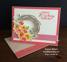 Stampin Up Jar of Love Birthday Card - Rosanne Mulhern