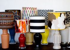 Design Sponge: How to make a lampshade plus, tons of other awesome diy projects. Do It Yourself Design, Do It Yourself Inspiration, Home Crafts, Diy Home Decor, Diy Crafts, Fabric Crafts, Make A Lampshade, Cover Lampshade, Fabric Lampshade