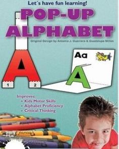 Pop Up Alphabet Printable Activities (2 Dimensional) Do you want to create a fun learning experience for your students? Do you want them to get excited and motivated about learning the alphabet, reading and writing? These fun and easy 2 Dimensional (2 D)-Pop-up activities are the perfect ones to help guide your