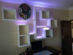 Wall unit with led's