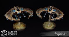 CoolMiniOrNot - Necron night Scythe and Doom Scythe by Awaken Realms Necron Army, Fantasy Battle, Warhammer 40000, Washer Necklace, Miniatures, Night, Games, Workshop, Jewelry
