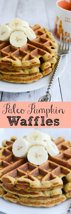 Paleo Pumpkin Waffles - healthy and delicious waffle recipe!