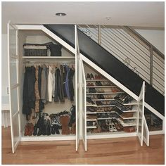 placard-sous-escalier-blanc-comme-buanderie-pour-chaussures-pantalons-et-vestes-laminatp-als-pour/ delivers online tools that help you to stay in control of your personal information and protect your online privacy. Closet Under Stairs, Space Under Stairs, Under Stairs Cupboard, Basement Stairs, House Stairs, Basement Office, Basement Ideas, Home Stairs Design, Home Interior Design
