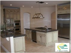 Gourmet kitchen by California Home Builders