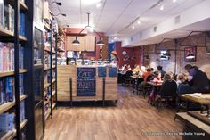 The Brooklyn Strategist is a Combination Board Game/Coffee Shop in Carroll Gardens, Queens... The Brooklyn Strategist in Carroll Gardens, Brooklyn runs after school programs for kids, has a coffee shop, and becomes a BYOB game center for adults by night.