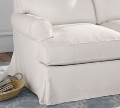 Townsend Roll Arm Slipcovered 3-Piece L-Sectional   Pottery Barn Free Interior Design, Interior Design Services, Corner Sectional, Sit Back And Relax, Mortise And Tenon, Trending Now, Engineered Wood, Color Trends, Slipcovers