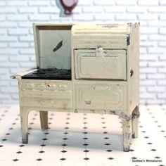 Tootsietoy 1930 039 s Kitchen Stove Vintage Metal Dollhouse Furniture 1 2 034 1 24 | eBay