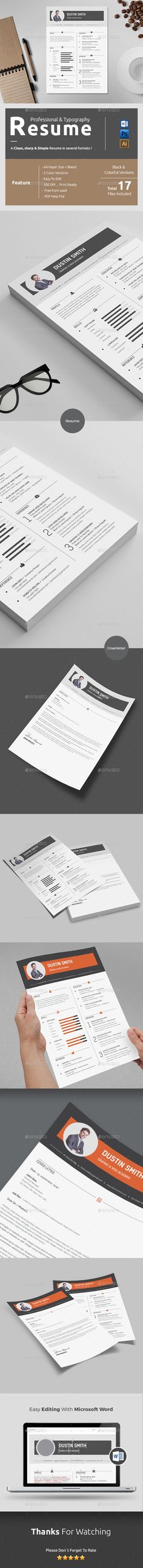 Resume Template is a modern CVResume template Comes